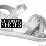 Childrens shoes zwart wit