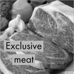 Exclusive meat zwart wit